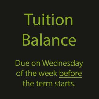 Tuition Balance